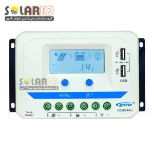 شارژ کنترلر خورشیدی EPSOLAR 30A مدل VS3024AU