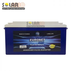 اطری خورشیدی ۱۰۰ آمپر یورونت دیپ سایکل ژل