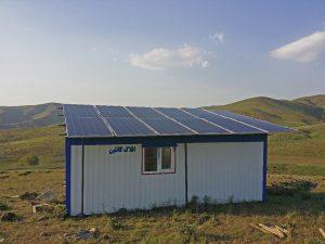برق کامل کانکس + دوربین + پمپ شناور خورشیدی